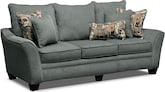 Living Room Furniture-Albion Blue Sofa