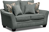 Living Room Furniture-Albion Blue Loveseat