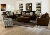 Living Room Furniture-The Albion Chocolate Collection-Albion Chocolate Sofa