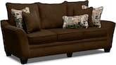 Living Room Furniture-Albion Chocolate Sofa