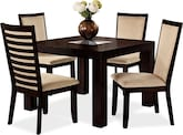 "Dining Room Furniture-Karmon Costa Camel 5 Pc. Dinette (42"" Table)"