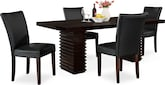 Dining Room Furniture-Costa Vero Black 5 Pc. Dinette