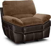 Living Room Furniture-Piedmont Beige Glider Recliner