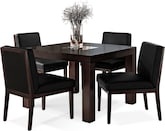 "Dining Room Furniture-Karmon Reese Black 5 Pc. Dinette (42"" Table)"