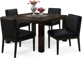 "Dining Room Furniture-Karmon Reese Black 5 Pc. Dinette (50"" Table)"