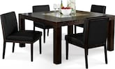 "Dining Room Furniture-Karmon Reese Black 5 Pc. Dinette (60"" Table)"