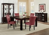 "Dining Room Furniture-The Karmon Vero Red Collection-Karmon 60"" Dining Table"