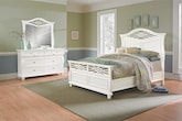Bedroom Furniture-Hampden White 5 Pc. Queen Bedroom