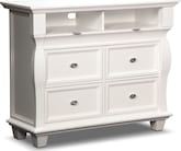 Bedroom Furniture-Hampden White Media Chest