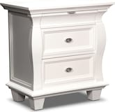 Bedroom Furniture-Hampden White Nightstand
