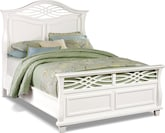 Bedroom Furniture-Hampden White Queen Bed