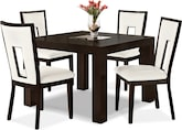 "Dining Room Furniture-Karmon Paso White 5 Pc. Dinette (42"" Table)"