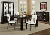 "Dining Room Furniture-The Karmon Paso White Collection-Karmon 60"" Dining Table"