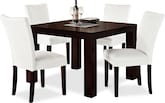 "Dining Room Furniture-Karmon Vero White 5 Pc. Dinette (42"" Table)"