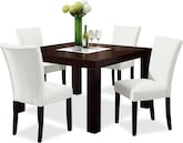 "Dining Room Furniture-Karmon Vero White 5 Pc. Dinette (50"" Table)"