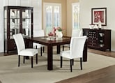 "Dining Room Furniture-The Karmon Vero White Collection-Karmon 60"" Dining Table"