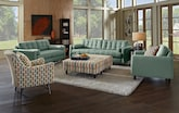 Living Room Furniture-The Highline Blue Collection-Highline Blue Sofa