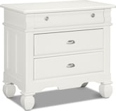 Kids Furniture-Magnolia White Drawer Nightstand