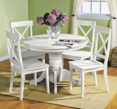 Dining Room Furniture-The Plantation Cove White Collection-Plantation Cove White Table