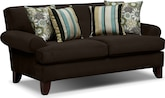 Living Room Furniture-Concord Chocolate Loveseat