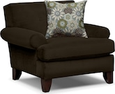 Living Room Furniture-Concord Chocolate Chair