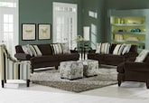 Living Room Furniture-The Concord Chocolate Collection-Concord Chocolate Sofa