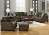 Living Room Furniture-The Elliot Sage Collection-Elliot Sage Sofa