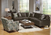 Living Room Furniture-The Elliot II Slate Collection-Elliot II Slate 2 Pc. Sectional