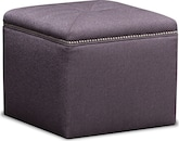 Living Room Furniture-Caterina Cube Ottoman