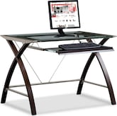 Home Office Furniture-Haley Computer Desk with Keyboard Tray