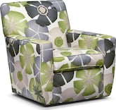 Living Room Furniture-Nantucket Floral Swivel Chair