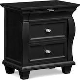 Bedroom Furniture-Hampden Black Nightstand