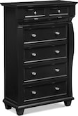 Bedroom Furniture-Hampden Black Chest