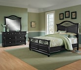 Bedroom Furniture-Hampden Black 5 Pc. Queen Bedroom
