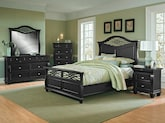 Bedroom Furniture-The Hampden Black Collection-Hampden Black Queen Bed