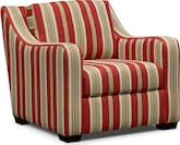Living Room Furniture-Nantucket Stripe Accent Chair