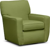 Living Room Furniture-Nantucket Green Swivel Chair