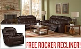 Living Room Furniture-Marshall 2 Pc. Living Room plus Free Rocker Recliner
