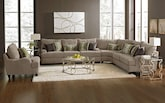 Living Room Furniture-The Hollister II Collection-Hollister II 3-Piece Sectional