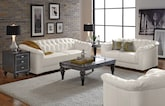 Living Room Furniture-The Carmen White Collection-Carmen White Sofa