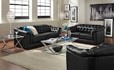 Living Room Furniture-The Carmen Charcoal Black Collection-Carmen Charcoal Black Sofa