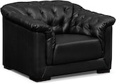 Living Room Furniture-Carmen Charcoal Black Chair