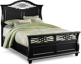 Bedroom Furniture-Hampden Black Queen Bed