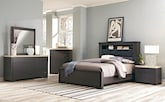 Bedroom Furniture-Paseo 7 Pc. Queen Bedroom