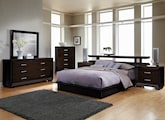 Bedroom Furniture-The Wonderland Collection-Wonderland Queen Platform Bed with Nightstands