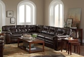 Living Room Furniture-The Revere II Brown Collection-Revere II Brown 2 Pc. Sectional