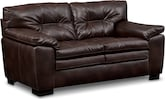 Living Room Furniture-Revere Brown Loveseat
