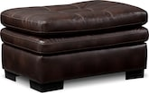 Living Room Furniture-Revere Brown Ottoman