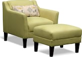 Living Room Furniture-Bowen Accent Chair & Ottoman