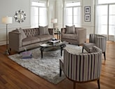 Living Room Furniture-The Darcy Taupe Collection-Darcy Taupe Sofa